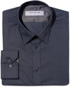 Dress Shirt, Slim Fit Black Stripe Long Sleeve Shi