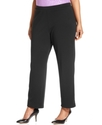 Plus Size Pants, Pull-On Straight-Leg