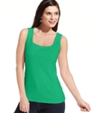 Top, Sleeveless Square-Neck Tank