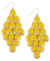Haskell Earrings, Gold-Tone Yellow Teardrop Chande