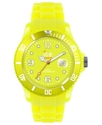 Watch, Women's Ice-Flashy Neon Yellow Silicone Str