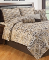 Azara 7 Piece King Jacquard Comforter Set Bedding