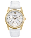 Caravelle by Bulova Watch, Women&#39;s White Leather S