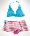 Kids Swim, Girls Pony Two-Piece Swimsuit