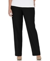 Plus Size Pants, Pull On Straight Leg, Black