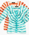 Kids Shirt, Girls Stripe Top