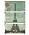 Wall Art, Eiffel Tower Carte Postale Triptych