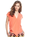 RACHEL Rachel Roy Top, The Talyia Short-Sleeve V-N