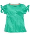 Kids Shirt, Girls Cold-Shoulder Tee