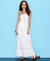 Juniors Dress, Strapless Lace Maxi