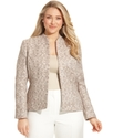 Plus Size Jacket, Spacedyed Open