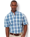 Big and Tall Shirt, Vineyard Poplin Medium Plaid S