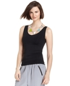 Top, Sleeveless Scoop-Neck Tank