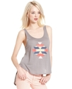 RACHEL Rachel Roy Top, Sleeveless Scoop-Neck Geome