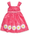 Kids Dress, Little Girls Floral Dot Dress