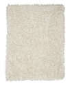 Area Rug, Silky Shag Ivory 8&#39; x 10&#39;