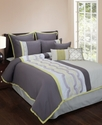 Caden 7 Piece Embroidered King Comforter Set Beddi