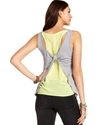 Juniors Top, Sleeveless Layered Tank