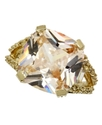 Ring, Gold-Tone Champagne Square Cubic Zirconia Ri