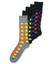 Men's Socks, Single Pack Block Plaid Men's Socks