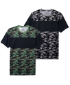 Shirt, Short Sleeve Camo Block T Shirt