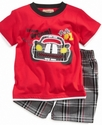 Baby Set, Baby Boys 2-Piece Car Tee and Shorts