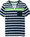 Shirt, Enrique Stripe Short Sleeve T Shirt