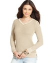 Sweater, Long-Sleeve Textured-Knit High-Low