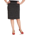 Plus Size Skirt, Polka-Dot Tiered Pencil