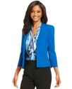 Petite Jacket, Three-Quarter-Sleeve Collarless
