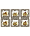 Coasters, Set of 6 Woodland
