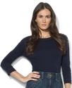 Lauren Jeans Co. Top, Three-Quarter-Sleeve Buttone