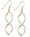 24k Gold Over Sterling Silver Earrings, Large Open