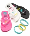 Kids Shoes, Little Girl Flip Flop and Bracelet