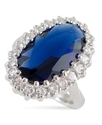 Ring, Blue Montana (23 ct. t.w.) and Cubic Zirconi