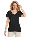 Top, Short-Sleeve V-Neck Tee