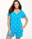 Plus Size Pajamas, Top and Shorts Set