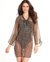Wrap, Cheetah Turquoise Coverup