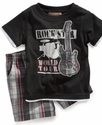 Baby Set, Baby Boys 2-Piece Rock Star Tee and Shor