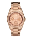 Watch, Women's Rose Gold Plated Stainless Steel Br