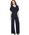 Petite Jumpsuit, Drape Front Wide Leg