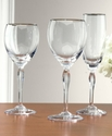 Allegra Platinum Wine Glass