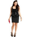 Plus Size Dress, Sleeveless Sequin Peplum