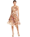 Dress, Sleeveless Printed Seamed