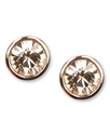 Earrings, Rose Gold-Tone Swarovski Element Stud Ea