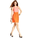 Juniors Dress, Sleeveless Cutout Colorblock