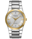 by Bulova Watch, Men&#39;s Diamond Accent Stainless St