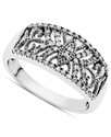 Diamond Ring, Sterling Silver Diamond Ring (1/5 ct