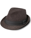 Hat, Brown Grain Band Fedora
