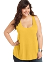 Plus Size Top, Sleeveless Racerback Tank